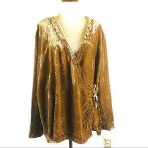J. JILL boho velvet wrap blouse